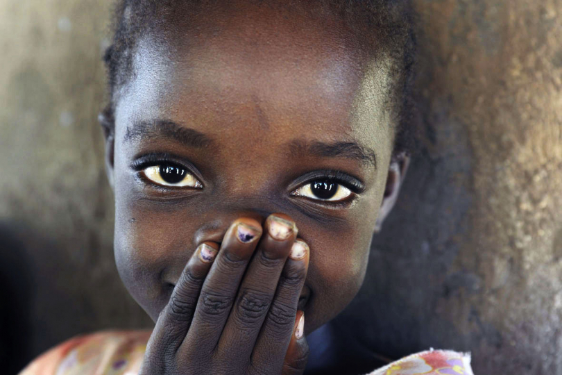 Mozambique, Chiuta District, Kaunda Village, April 2010. A young girl in a small rural village. (Unicef).
