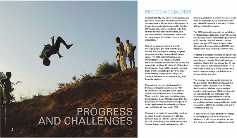 Unicef annual report. Southern Africa. 2011.