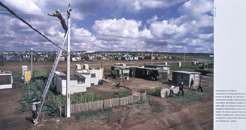 Eskom electrification of townships.
