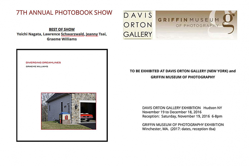 Best of Show winner for Diverging Dreamlines photobook at the Griffin Museum, New York. 2016.