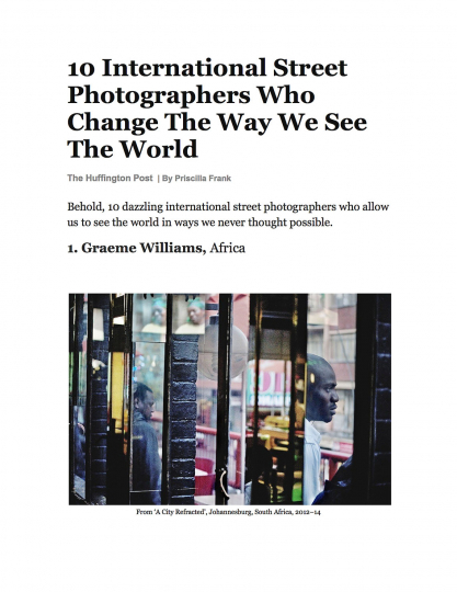 The Huffington Post: 10 International Street Photographers Who Change The Way We See The World. 2017.