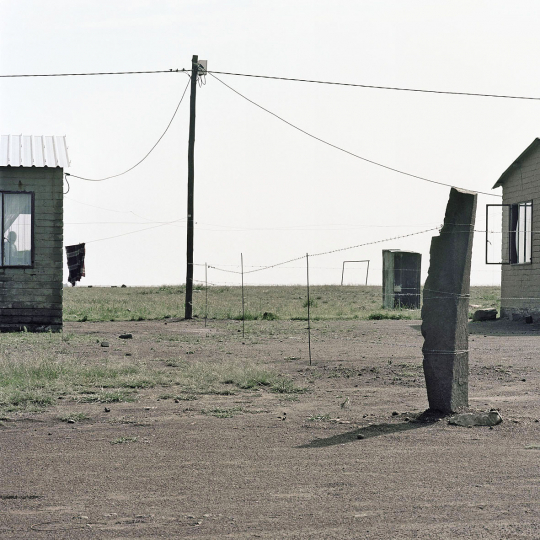 Government built homes provided for former shack dwellers. Green Field township. Heilbron, South Africa. 2008.