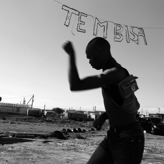 Shadow boxing in Tembisa township. Cape Town. 2018.