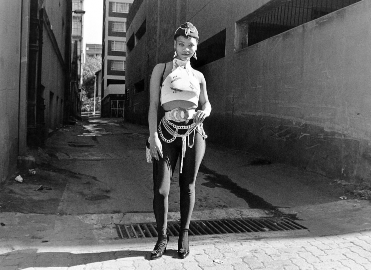 South Africa, Johannesburg, 1990.A prostitute in Hillbrow.