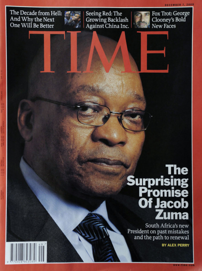 Time magazine cover. South African President, Jacob Zuma. 2009.