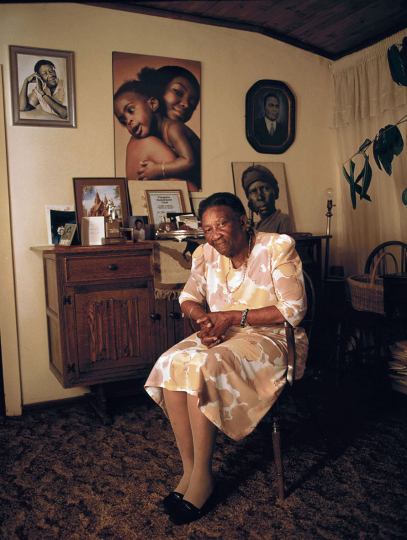 South Africa, Soweto. 1993.Author, anti-apartheid activist, Ellen Kuzwayo at her home in Soweto.