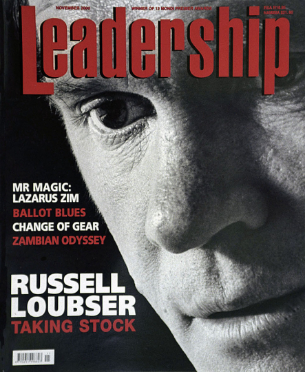 Russell Loubser ( Johannesburg Stock Exchange CEO) for Leadership Magazine. 2000.