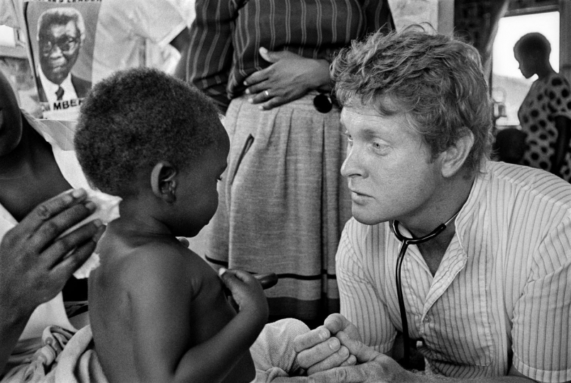 South Africa, Cape Town. 1988. Ivan visits the home of a patient in Crossroads Township.