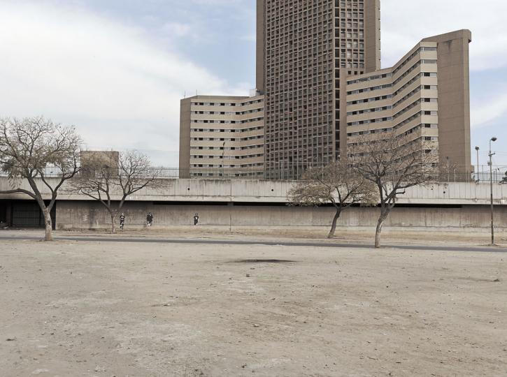 A large block of flats in Pretoria, South Africa. 2011.