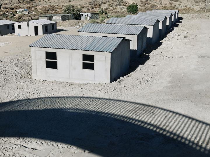 Government housing being built alongside the highway. De Doorns. 2014.